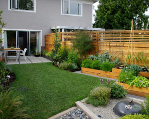 modern-home-garden-ideas-with-wooden-fence
